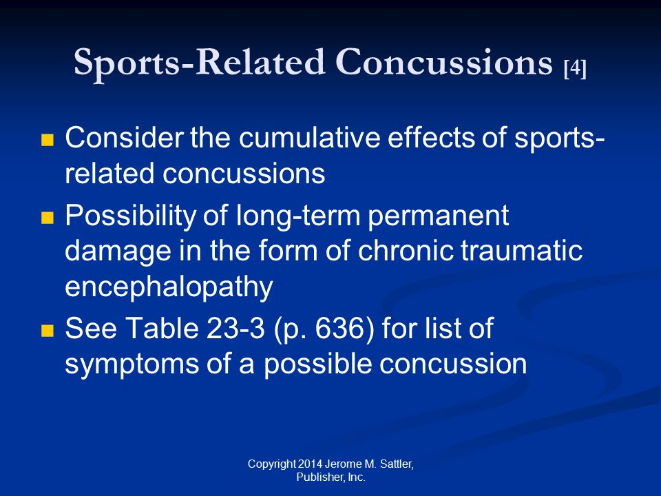 Sports-Related Concussions [4]